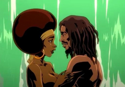BOB MARLEY e RITA in un CARTOON