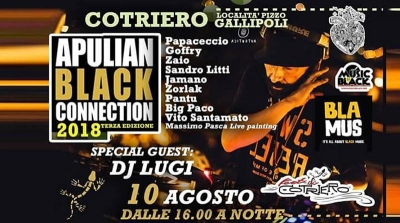 APULIAN BLACK CONNECTION: IL 10 AGOSTO LA SECONDA SERATA CON DJ LUGI